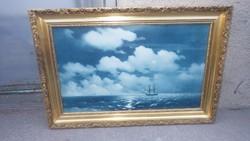 Arany-fa képkeret vászon nyomattal , falc 35x57 cm