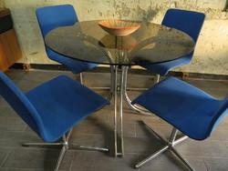 Retro / design étkező asztal + 4 db szék
