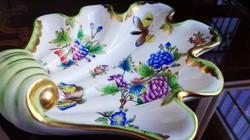 1940-es EXTRA Ó Herendi QueenVictoria porcelán kagyló, Weiss Manfréd repirendeléséből