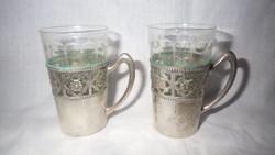 800-as ezüst régi pohár pár