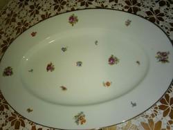 Zsolnay, nagy ovális, kínáló tál, 39,5x 27,5cm