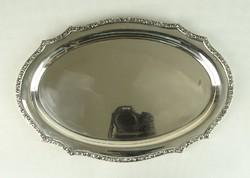 0W022 Régi 800-as finomságú ezüst tálca 330g