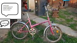 Régi retró kamping kerékpár