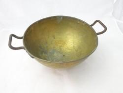 8675 Antik réz cukrászati eszköz habüst