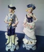 Barokk GDR Német porcelán pár
