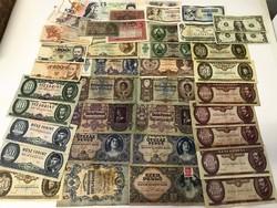 Nagy papírpénz LOT, magyar és külföldi pénzekkel