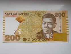 Kirgizisztán  200 com  2004  UNC további bankjegyek a kínálatomban