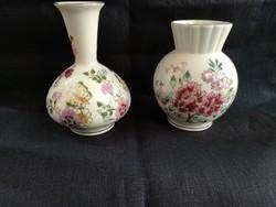 Régi pillangós és virágos Zsolnay váza együtt