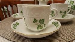 Gyönyörű, vitrinállapotú Pirkenhammer teás/kávéskészlet, két ajándék fűszerszóróval!