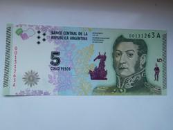 Argentina 5 pesos 2015 UNC  további bankjegyek a kínálatomban a galérián!