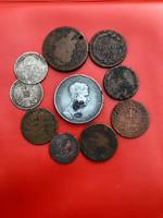 10 db-os Habsburg lot gyengébb tartásban, ezüst érmék is