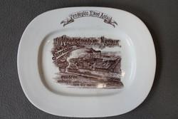 1896-os porcelán tányér, tál a Haggenmacher sörfőzde részére
