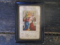 Első szent áldozási emlék 1897.