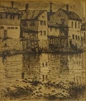 0V795 Tipary Dezső : Mosás a patakban 1910