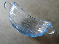 Art deco csodaszép kék üveg kínáló