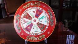 Ó Herendi Red Dyansty - Siang Rouge pikkelyes porcelán tányér
