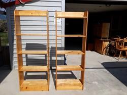 Eladó 2db fenyő polc. Bútorok jó állapotú Méretei:60cm x 25cm mély x 165cm magas ára.