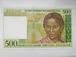 Madagaszkár 500 francs 1994 UNC