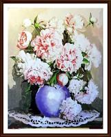 FAZEKAS P. PÁL - Pünkösdi rózsák ( 50.5 x 40.5 , feszített vásznon, olaj )
