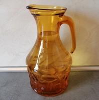 Borostyán színű, olasz üvegkancsó 1,3 l