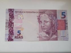 Brazília  5 reais  2015 UNC  további bankjegyek a kínálatomban !