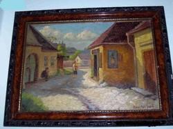 Koszkol Jenő A régi Tabán festménye
