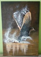 AKCIÓ!!!Szilárd Anikó vadkacsás festmény olcsón eladó!