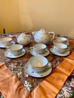 Antik ritka Art Deco Zsolnay aranyozott teás készlet az 1930 -as évekből