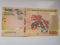 Burundi 500 francs 2015 UNC