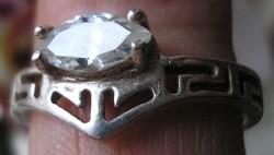 925 ezüst gyűrű 17,9/56,2 mm, swarovski köves