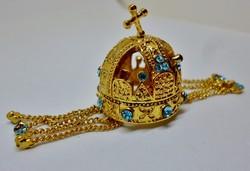 A szépséges Magyar szent korona miniatűr mása saját dobozában