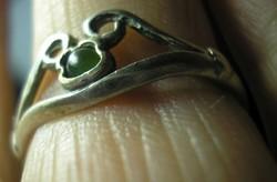 925-ös ezüst gyűrű, 18,8 mm , zöld turmalin