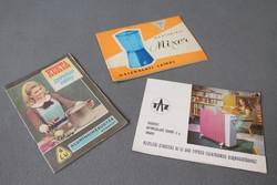 Három darab használati utasítás, retro füzet