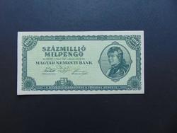 100 millió milpengő 1946 Szép ropogós bankjegy  02
