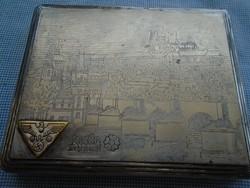 II. vhs. SS német fémből készült dohány vagy csigaretta tálca