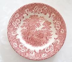 Angol fajansz tányér szeder virág minta 19.5 cm