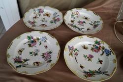 Herendi Viktória mintás VBO antik 4 db tányér a 19. századból