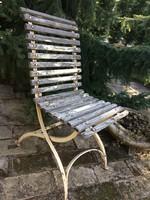 Antik vas kerti szék