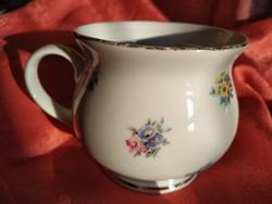 Virágmintás, hasas porcelán bögre