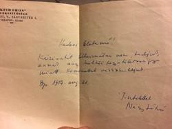 Nagy László költő kézzel írt levele 1954!!!