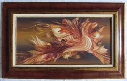 """Markó Erzsébet """"Alkonyat"""" c. csodálatos festménye pazar keretben ingyenes házhoz szállítással"""