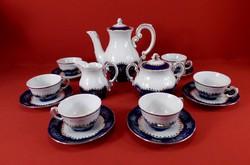 Zsolnay Pompadur II. Kávés (mokkás) készlet 6 személyes