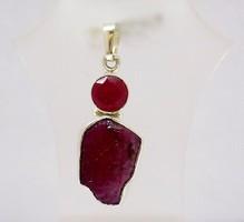 Ezüst medál rubin kővel (ZAL-Ag77537)