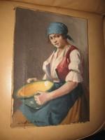 SZÁSZ ISTVÁN / 1878-1965 / : MENYECSKE