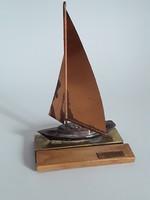 Extrém ritka retro Balatonos vitorlás hajó,hajó