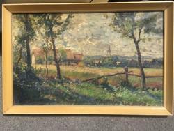 Ujváry Ignác eredeti olaj vászon impresszionista festmény 1912- olcsóbb !!!!!