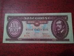 1960-as 100 Forint EF + RR! VISZONYLAG ALACSONY SORSZÁM 003362