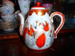 Keleti  kézzel festett antik kancsó