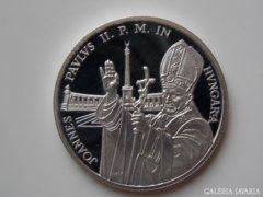 1991 PP Pápa látogatás ezüst 500 forint UNC 02.