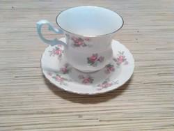 Angol porcelán kávés csésze kistányéral